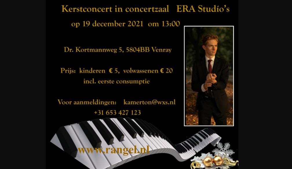 """19 Декабря 2021 – Инновативный Новогодний концерт  для настоящих ценителей музыки в новом концертном зале пианиста """"ERA Studio's""""  в Venray"""